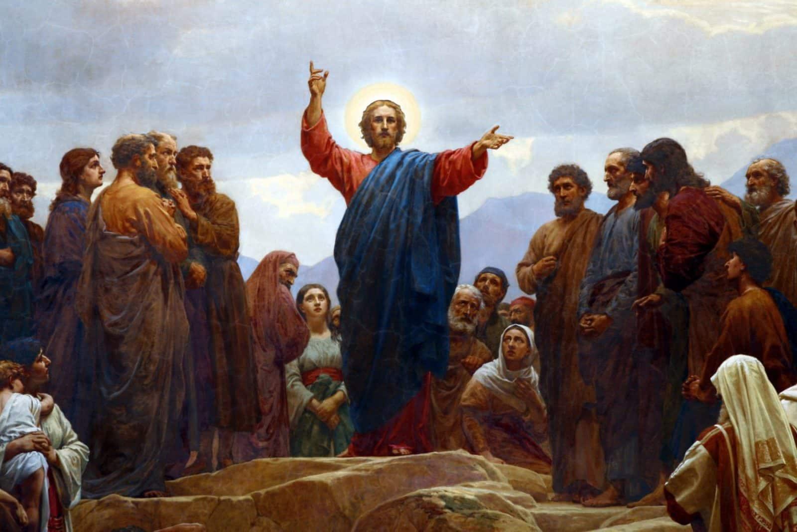 De Bergrede, door de Deense schilder Henrik Olrik (1830-1890)