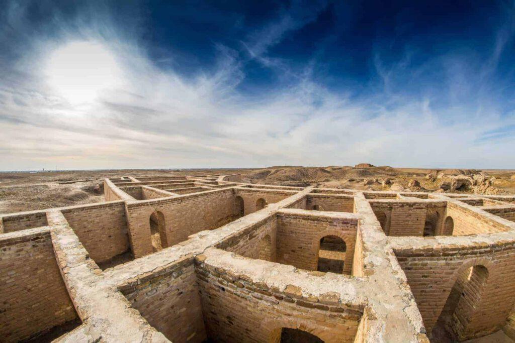 Opgraving van 4000-jaar oude woning in Ur, Irak.