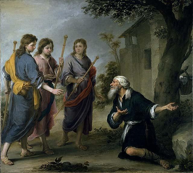 Abraham en de drie engelen