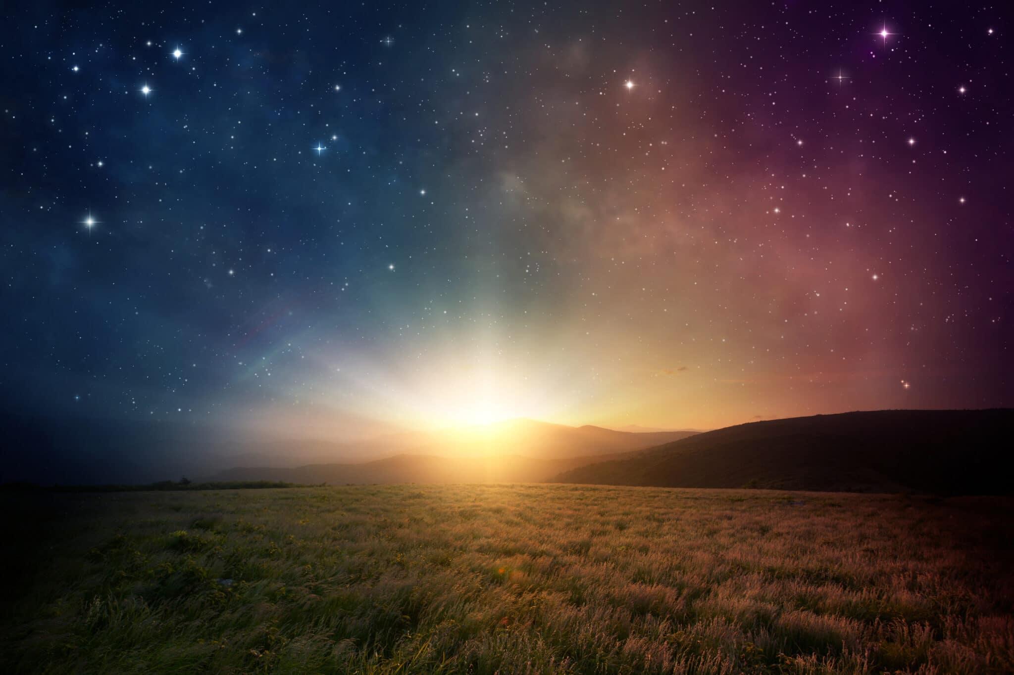 Zonsopgang en sterren